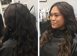 Black to Light Brown Balayage