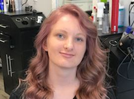 Rose Balayage Highlights on Blonde Hair