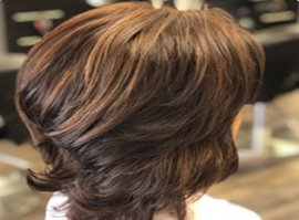 Short Hair Dark Brown with Chestnut Balayage